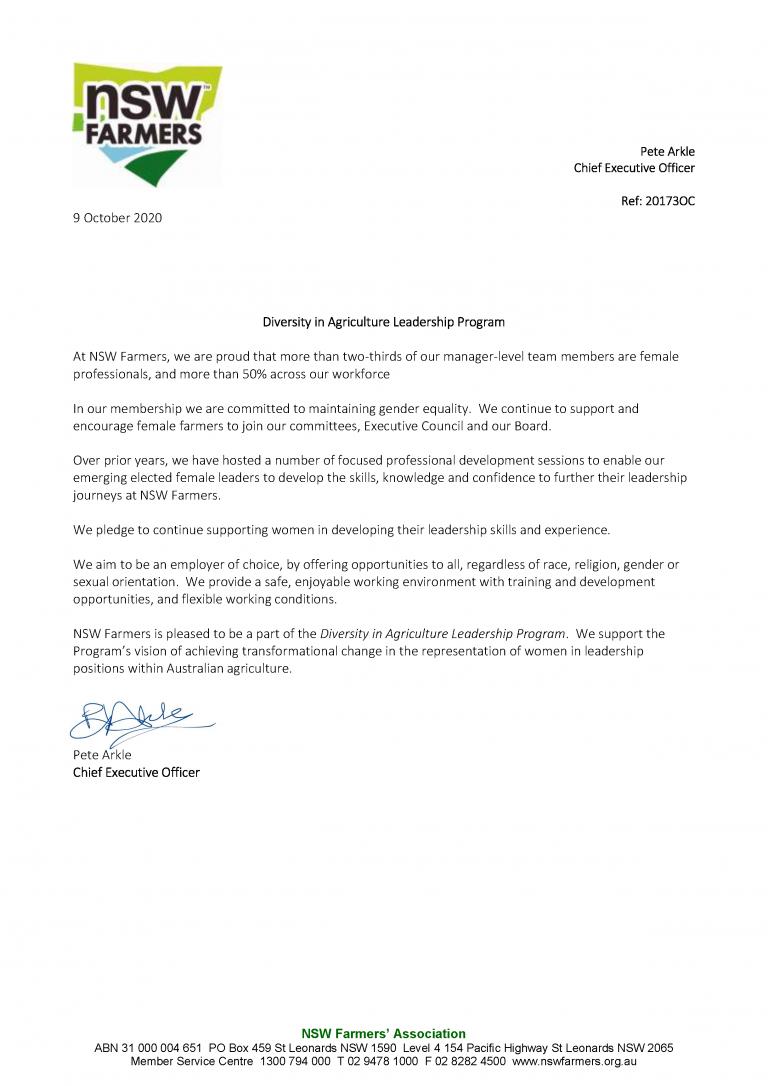NSW Farmers pledge